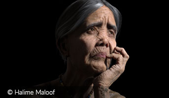 Halime Maloof Portrait of Whang Od