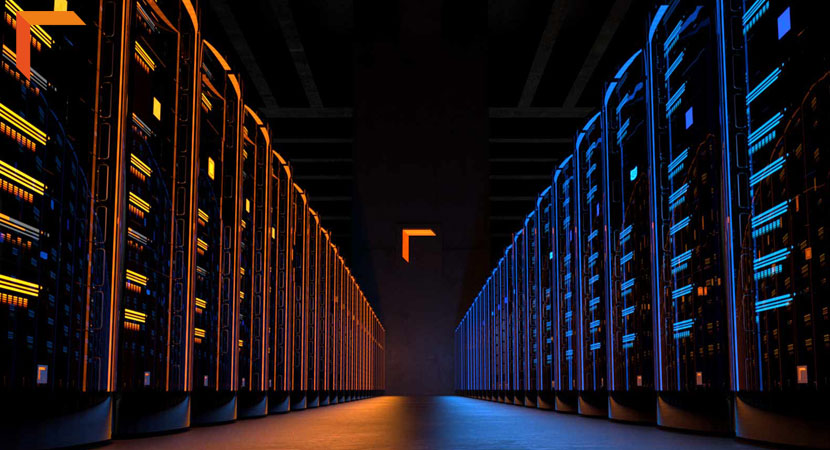 Image of a commercial render farm
